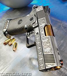 Steve Dunn - Custom 1911 Engraving  Custom orders are welcomed. Feel free to contact Dunn concerning any knife or gun engraving needs you may have by visiting http://www.stevedunnknives.com or calling 270-563-9830