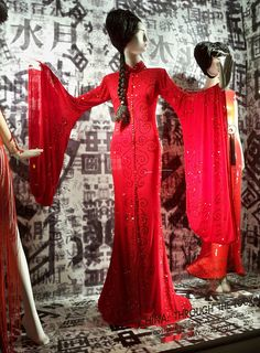 "A Bergdorf Goodman window display presenting The China Influence, a retrospective of recent fashion inspired by China and the Far East, in celebration of the opening of ""China: Through the Looking Glass"" at The Costume Institute at the Metropolitan Museum of Art, May 7-August 16, 2015."
