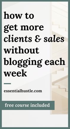 Tired of blogging for sales each week? Here's how a hiatus in blogging each week resulted in a 5x revenue increase, and my most profitable quarter to date. Here are the 3 ways to get more sales without blogging each week ... free course included!