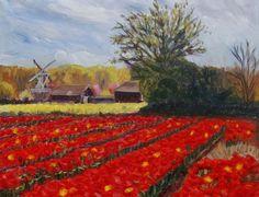 Spring in Holland 2 - Full-frontal image, unframed