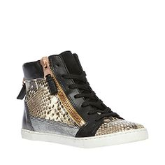 FLYAWAY NATURAL MULTI women's athletic fashion hightop - Steve Madden