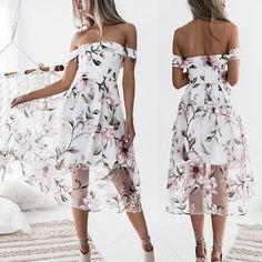 61068b3145e Pink Floral Print Double-deck Zipper Boat Neck Sweet Midi Dress