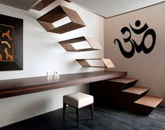 "OM Wall Art Decal 24"" x 36"" Om Wall Art Meditation Room Yoga Sticker Bedroom Decoration India Hindu Poster Yoga Asana"