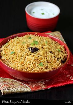 biryani rice recipe - South Indian muslim style kuska biryani recipe with step by step photos. A simple gravy goes best with this or can be had with raita