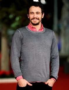 James Franco - pink and gray