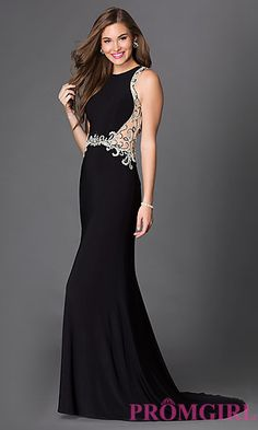0ef90f3d8ba83 Long Prom Dress with Open Back and Beading at PromGirl.com Prom Dresses For  Sale