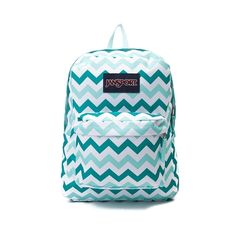 Flaunt your stylish stripes with the new Superbreak Chevron Backpack from JanSport! This Superbreak Backpack rocks a stylish chevron printed exterior with front organizational pocket and plenty of interior space for all of your school essentials. Details One large main compartment Straight-cut, padded shoulder straps Front utility pocket with organizer 23 padded back panel Web haul handle