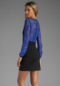 I need this!! Ok I just  really want it!! :-) DIANE VON FURSTENBERG Isla Dress in Black/Vivid Blue - Cobalt Blue