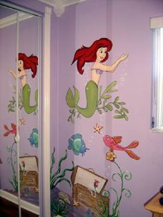 My mom painted so many princess murals when I was younger. This reminds me of my ariel room!