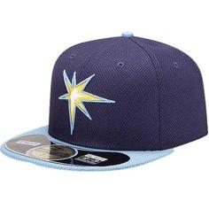 d5b2b1968697d Men s Tampa Bay Rays New Era Navy Light Blue On Field Diamond Era 59FIFTY  Fitted