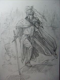 Fëanor - I don't very like him, but that's a good picture :)