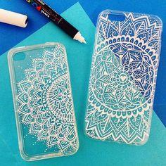 Mandala Design, Mandala Art, Diy Coque, Henna Phone Case, Diy Phone Case Design, Drawing Apple, Coque Smartphone, Posca Art, Art Case