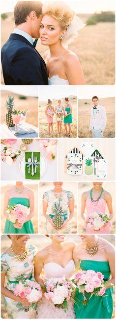 Tastefully tropical wedding