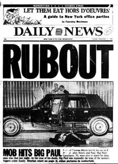 Mobsters in the News: The world according to John Gotti Real Gangster, Gangster Party, Gangster Quotes, Mafia Crime, New York Office, The Iceman, New York Pictures, Newspaper Headlines, New York Daily News