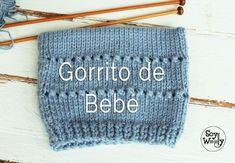 Neste vídeo mostro como é tricotado este gorro (touca para bebê). Knitting For Kids, Crochet For Kids, Baby Knitting, Crochet Baby, Knit Crochet, Crochet Beanie Hat, Knitted Hats, Baby Patterns, Knitting Patterns