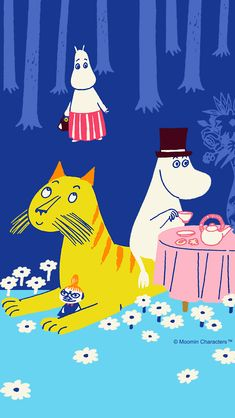 Moomin Wallpaper, Kawaii Wallpaper, Tove Jansson, Love Illustration, Little My, Lettering Design, Studio Ghibli, Troll, Fabric Design