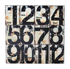 VINTAGE METAL NUMBER Tags - Grungy Metal Numbers - Digital Download Industrial Steampunk  -Iron on Transfer,Print,Cards,Tags,T-shirts