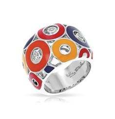 #jewelry NWT Sterling Silver Enameled Belle Etoile Nova Red Ring Size 6 please retweet