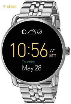 Fossil Q Wander Touchscreen Silver Stainless Steel Smartwatch