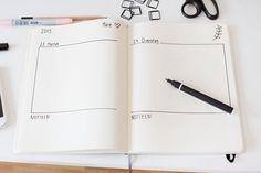 Ich zeige euch heute meine Art, meine Notizbücher als Kalender zu gestalten. Mit Washi Tape und ein paar Büroklammern...