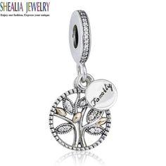 14K Gold Family Heritage Charm Pendants  Tree Charm Beads