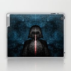 Darth Vader with Lightsaber in Galaxy Laptop & iPad Skin by #PLdesign #starwars #Society6