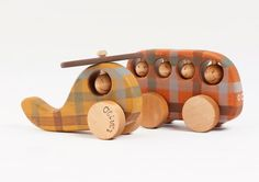 Personalized Wooden Vehicles set eco friendly Bus by FriendlyToys, $58.00