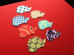 mini hedgehogs applique iron-on patches collection $9.75