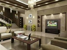 home living room design decorating your design of home with cool cute home design LSAQKOI - Home Decor Ideas Living Room Tv, Living Room Modern, Home And Living, Living Room Designs, Living Area, Cozy Living, Plafond Design, Luxury Living, Home Interior Design