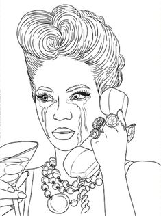 Beyonce Knowles Coloring Pages