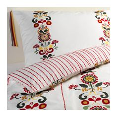 ÅKERKULLA Quilt cover and 2 pillowcases IKEA Feels crisp and cool against your skin as it's made of cotton percale, densely woven from fine yarn.