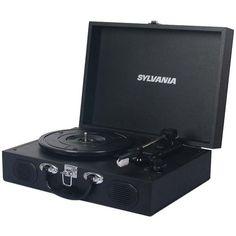 Sylvania Stt102Usb-Black Pc Encoding Usb Suitcase Turntable With Speaker
