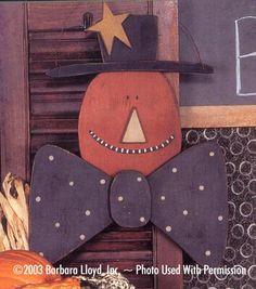 000072 (6) Folkart Pumpkin Heads