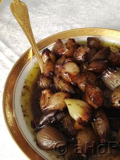 Balsamic Pearl Onions are delightful as a side dish for a rich and gourmet meal, but are equally at home as an appetizer. The flavors are divine; the aromas wafting through the house as they bake makes you hungry to try them out.