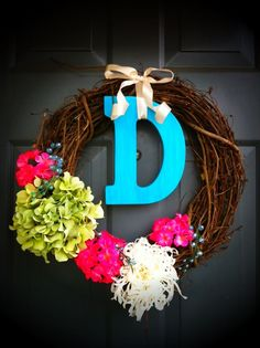 The wreath for our front door this spring!