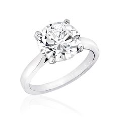 3.0 Ct. Round 14K CZ Engagement Ring