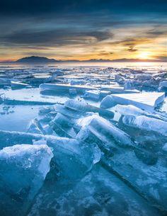 Ice on Utah Lake (by Summit42)