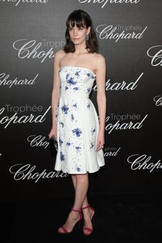 Stacy Martin attends the Chopard Trophy photocall at Hotel Martinez on May 22 2017 in Cannes France