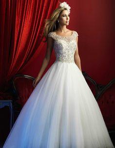 @Bellethemagazine wedding dresses | Allure Couture Spring 2016 | Floor Ivory Ball Gown Scoop $$ ($1,001-2,000)