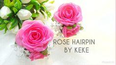 Rose,hairpin,accesories wedding by Keke Handmade