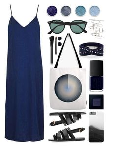 """Blue Dress"" by by-jwp ❤ liked on Polyvore featuring Topshop, NARS Cosmetics, Bobbi Brown Cosmetics, Terre Mère, Ray-Ban and Malaika"