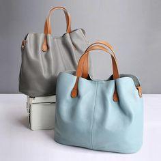 Women Handbag Shoulder Bag Genuine Leather Bucket Ladies Purse Shopping Bag New with Free Shipping