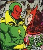 Scarlett Witch and The Vision    Oh...sorry this series of posts is how there are a dozen more lady Avengers that could have been in the movie. Black Widow is a character I rarely even think of when I think of Avengers.
