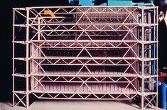 Maquette du projet définitif, façade sud. Renzo Piano et Richard Rogers. 1973…