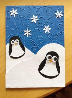 #Pinguin #Christmas #card #tučňáčci #Vánoce #přáníčko