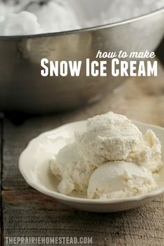 make old-fashioned snow ice cream, lightly sweetened with maple syrup