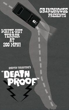 Death Proof (2007) ~ Minimal Movie Poster by Michael Sapienza ~ Tarantino Series #amusementphile