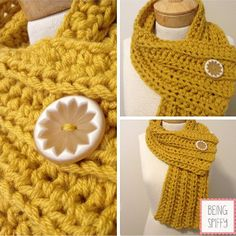 60 Minute Ribbed Crochet Scarf - Two skeins of yarn is all that's needed for this beautiful crochet design.