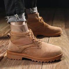 Men's Retro Mid Cut Socks Shoes Tooling Military Boots Sock Shoes, Men's Shoes, Dress Shoes, Shoes Men, Mens Business Shoes, Mens Boots Fashion, Men's Fashion, Ankle Boots Men, Desert Boots