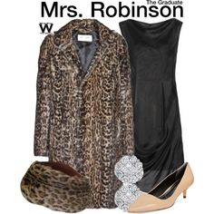Inspired by Anne Bancroft as Mrs. Robinson in 1967's The Graduate.